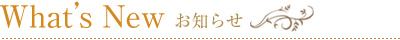 What's New お知らせ