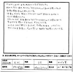 K・M様 サービス業(29歳)